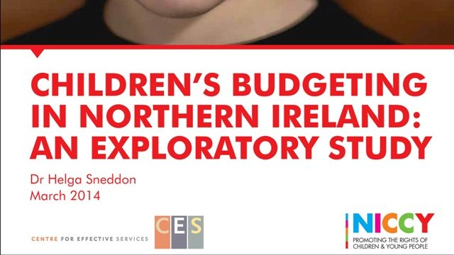 Image of Children's Budgeting in NI