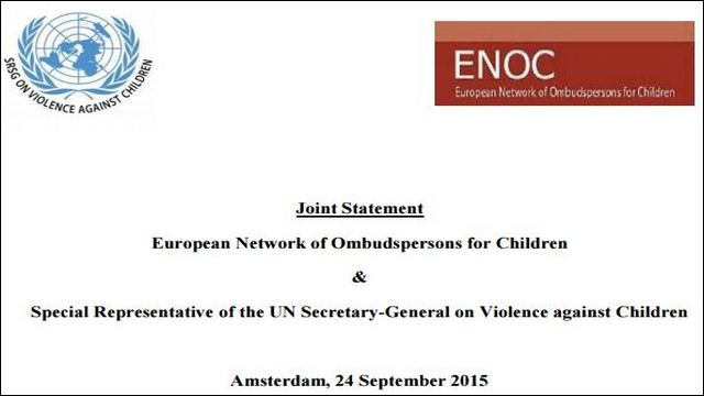 Image of ENOC Joint Statement on Violence Against Children