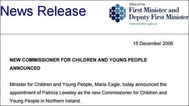Image of New Children's Commissioner Formally Welcomed