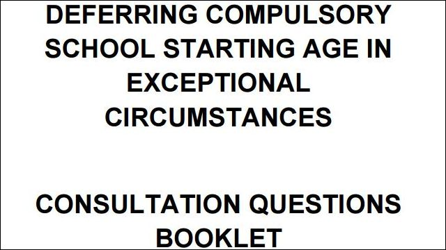 Image of Advice on School Starting Age Consultation