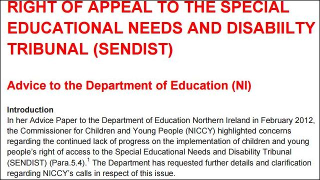 Image of Advice on Special Educational Needs Right To Appeal