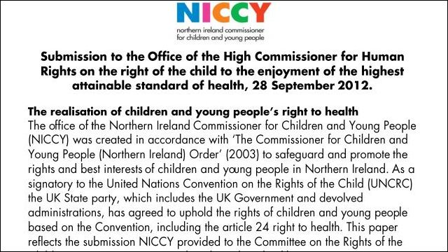 Image of Submission on the Right to Health
