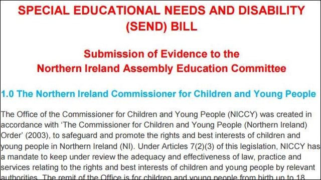 Image of Evidence on Special Education Needs Disability (SEND) Bill