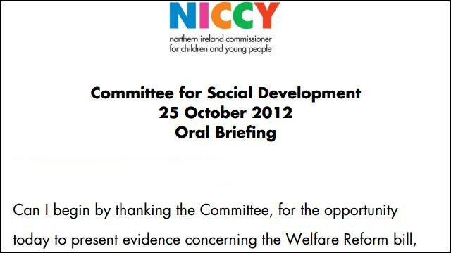 Image of Further Evidence to the DSD Committee on Welfare Reform