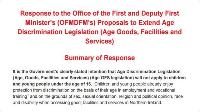 Image of Response to OFMDFM Consultation on Age GFS