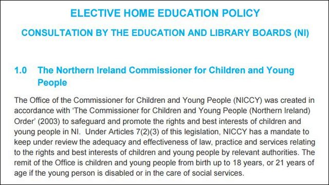 Image of Advice on Elective Home Education Policy Consultation