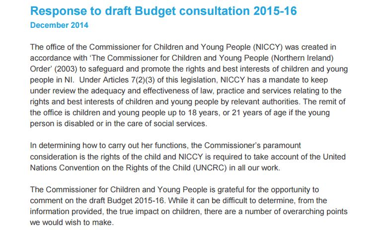 Image of Advice on Draft Budget Consultation 2015-16
