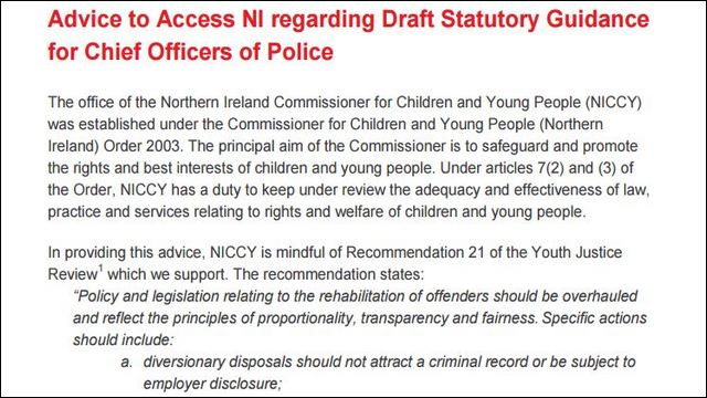 Image of Advice on Draft Statutory Guidance for Chief Police Officers