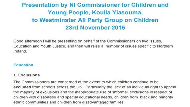 Image of Westminster All Party Working Group on Children