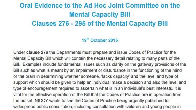 Image of Mental Capacity Bill - Further Clauses