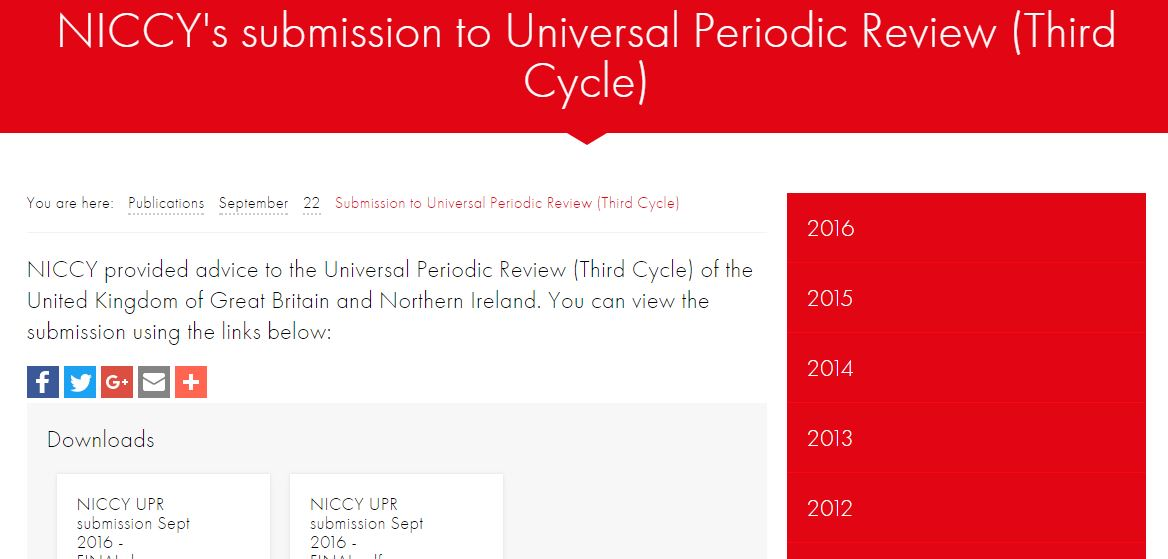 Image of Submission to Universal Periodic Review (Third Cycle)