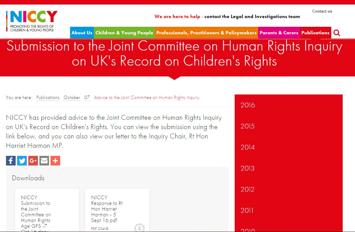 Image of Advice to the Joint Committee on Human Rights Inquiry