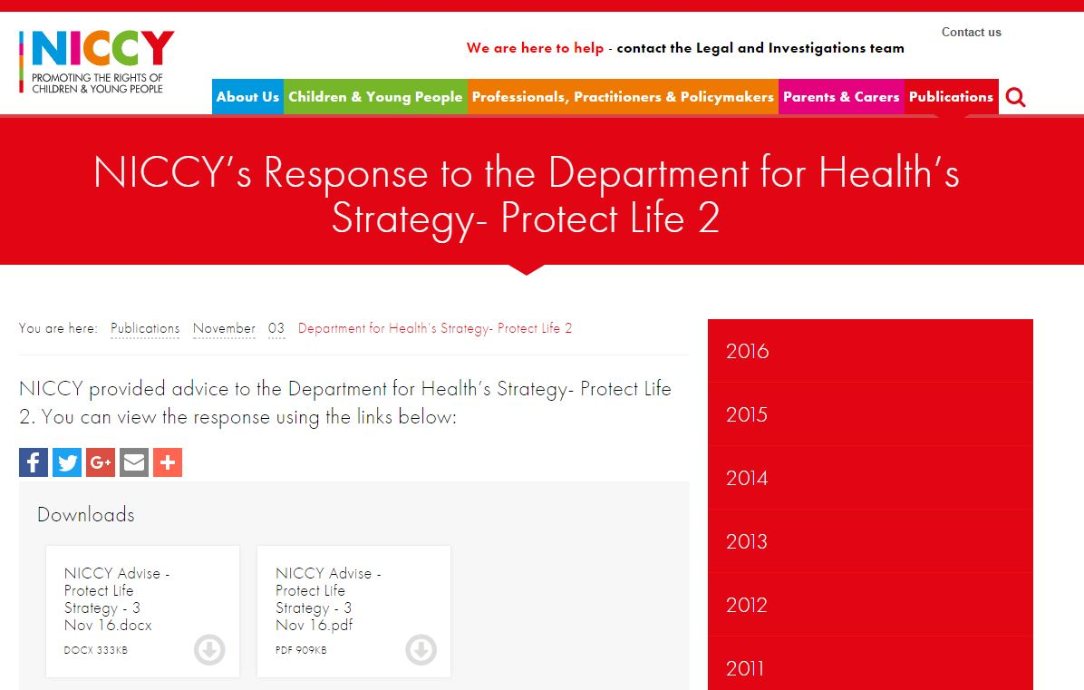 Image of Department for Health's Strategy- Protect Life 2