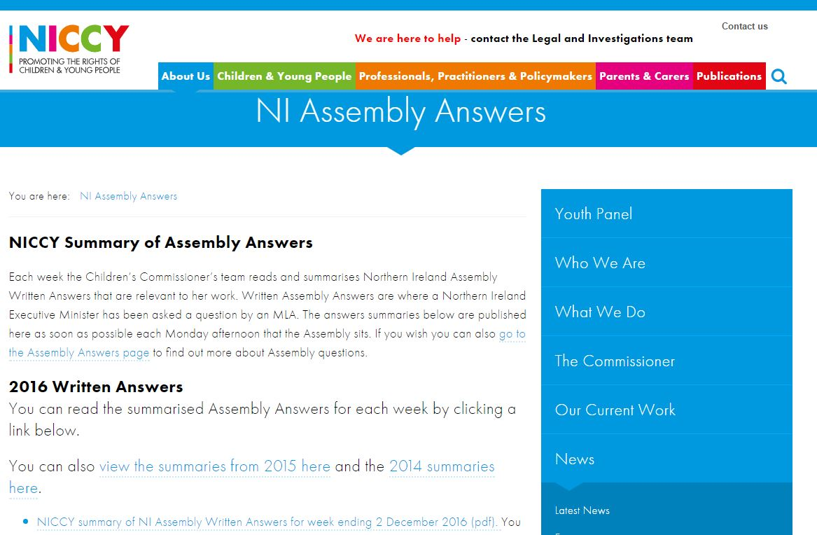 Photo for NI Assembly Answers