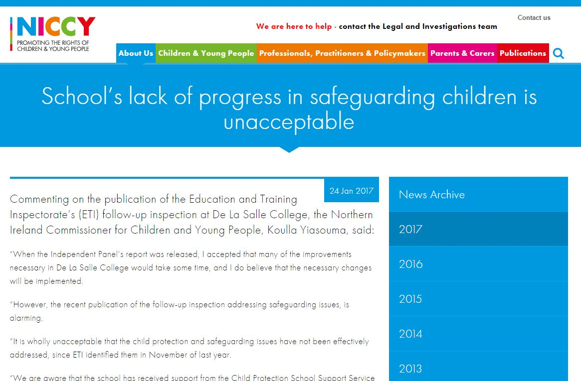 Image of School's lack of progress in safeguarding children is unacceptable