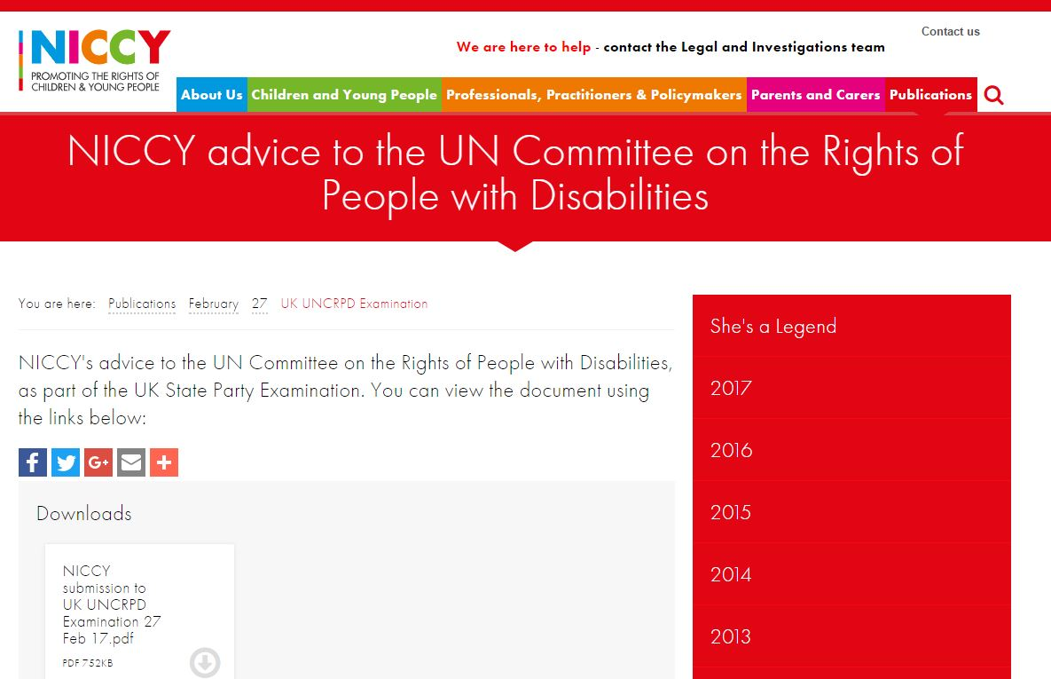 Image of UK UNCRPD Examination