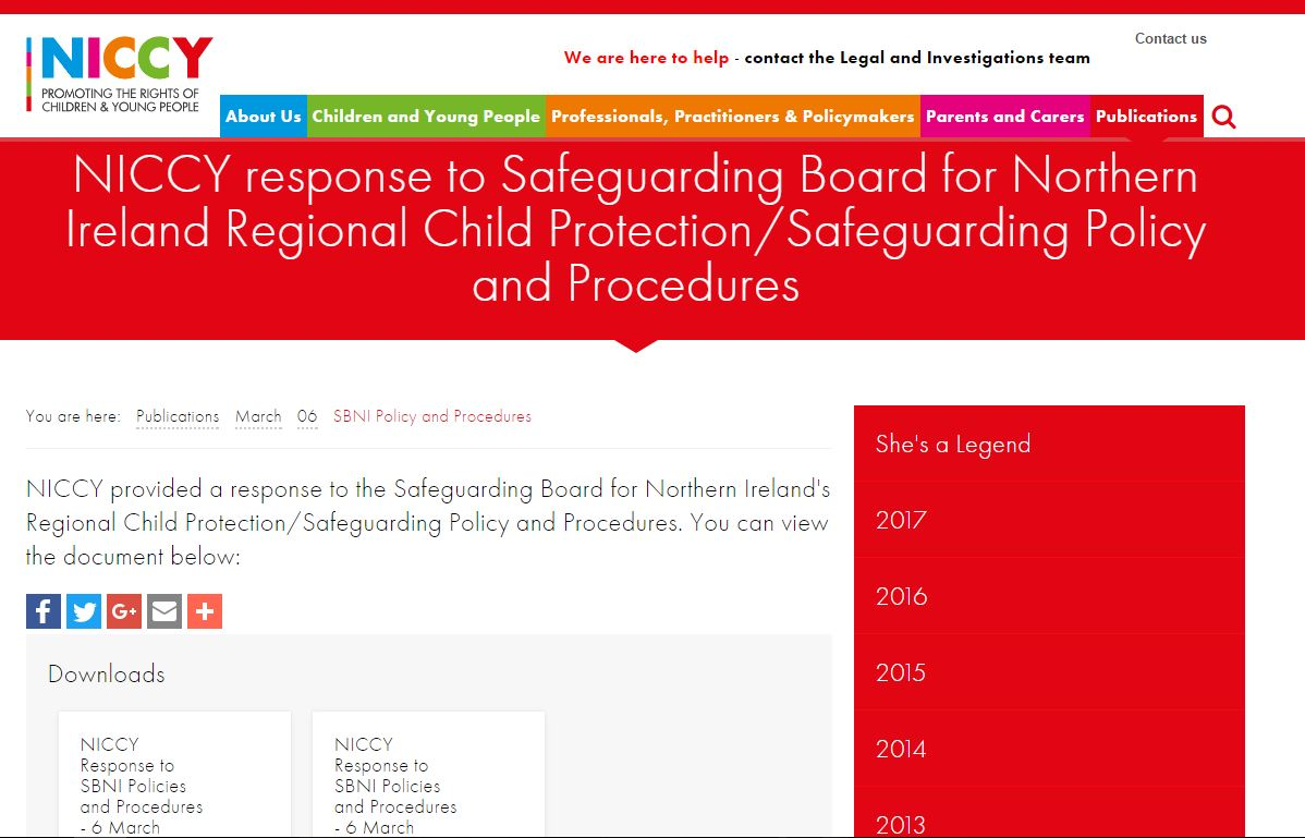 Image of SBNI Policy and Procedures