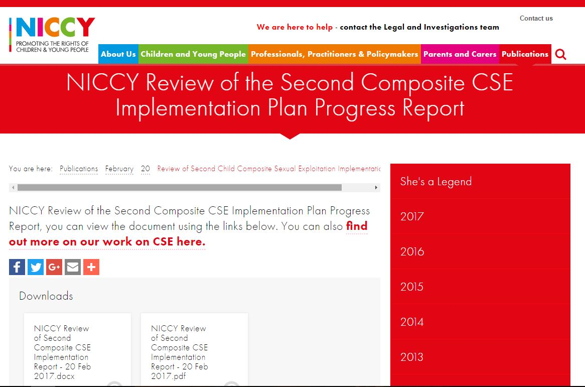 Image of Review of Second Child Composite Sexual Exploitation Implementation Report