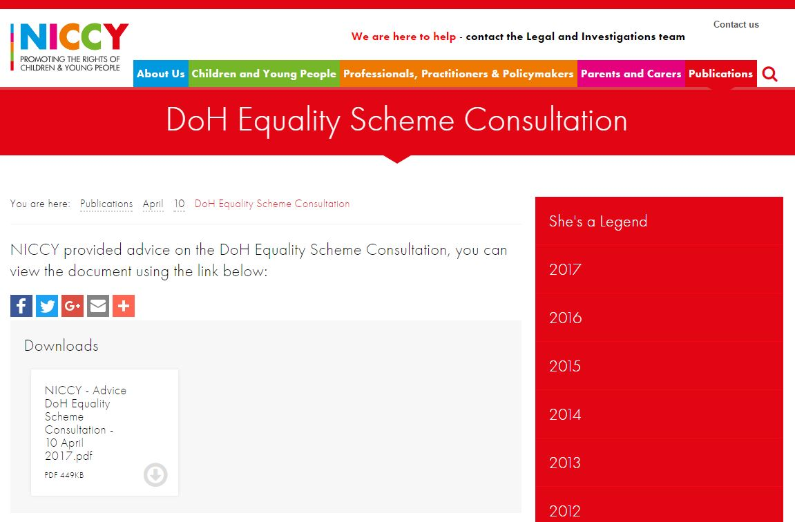 Image of DoH Equality Scheme Consultation