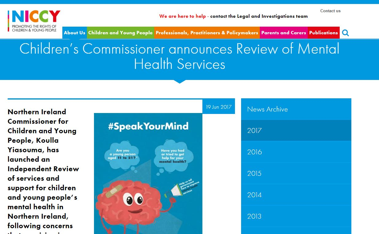 Image of Children's Commissioner announces Review of Mental Health Services