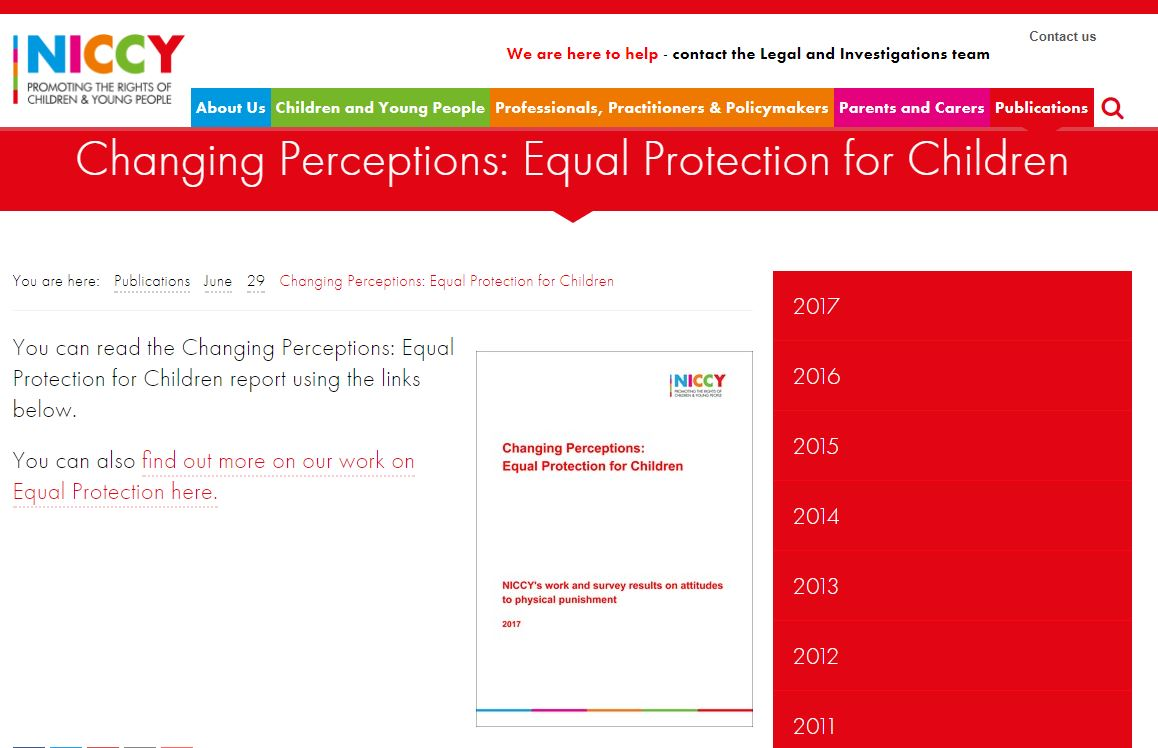 Image of Changing Perceptions: Equal Protection for Children