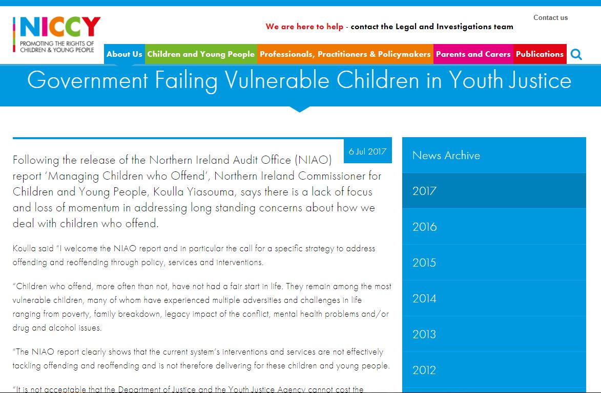Image of Government Failing Vulnerable Children in Youth Justice
