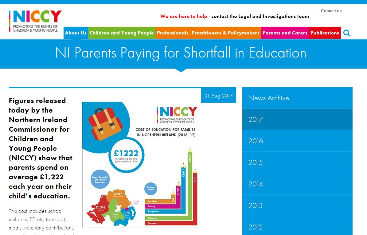 Image of NI Parents Paying for Shortfall in Education