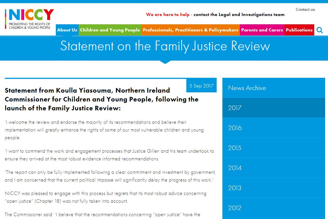 Image of Statement on the Family Justice Review