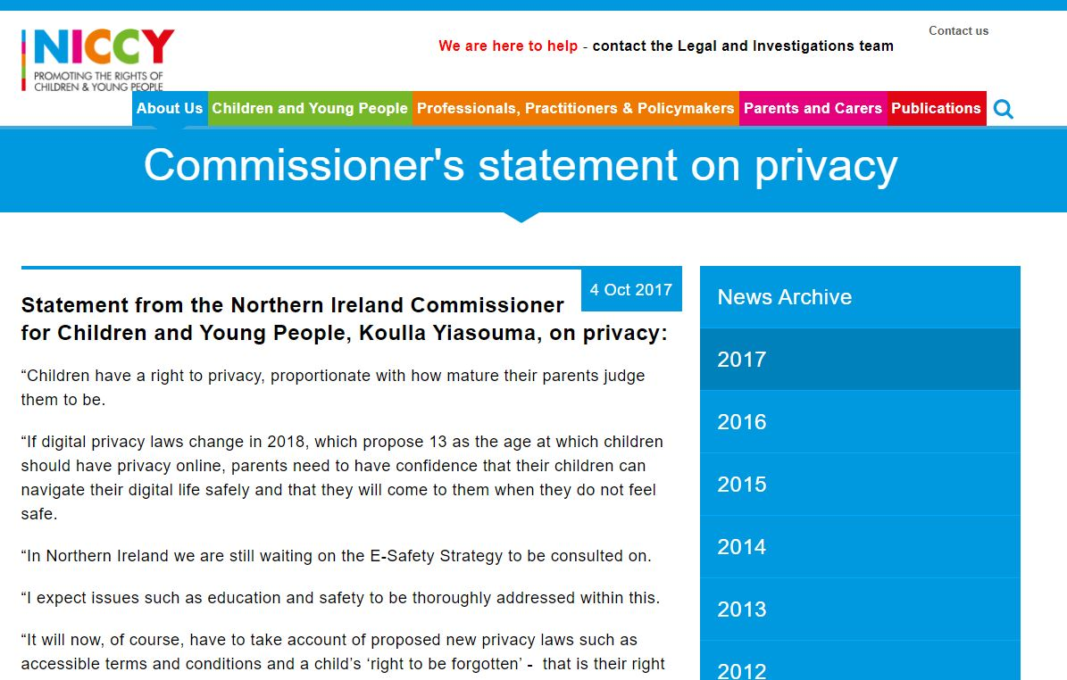 Image of Commissioner's statement on privacy