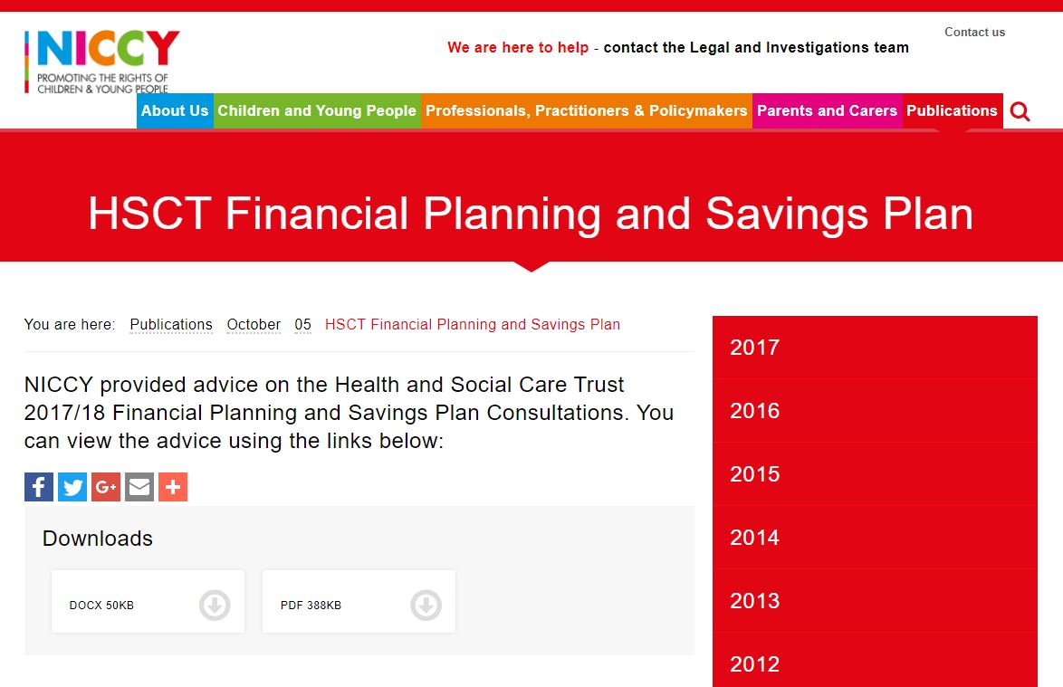 Image of HSCT Financial Planning and Savings Plan