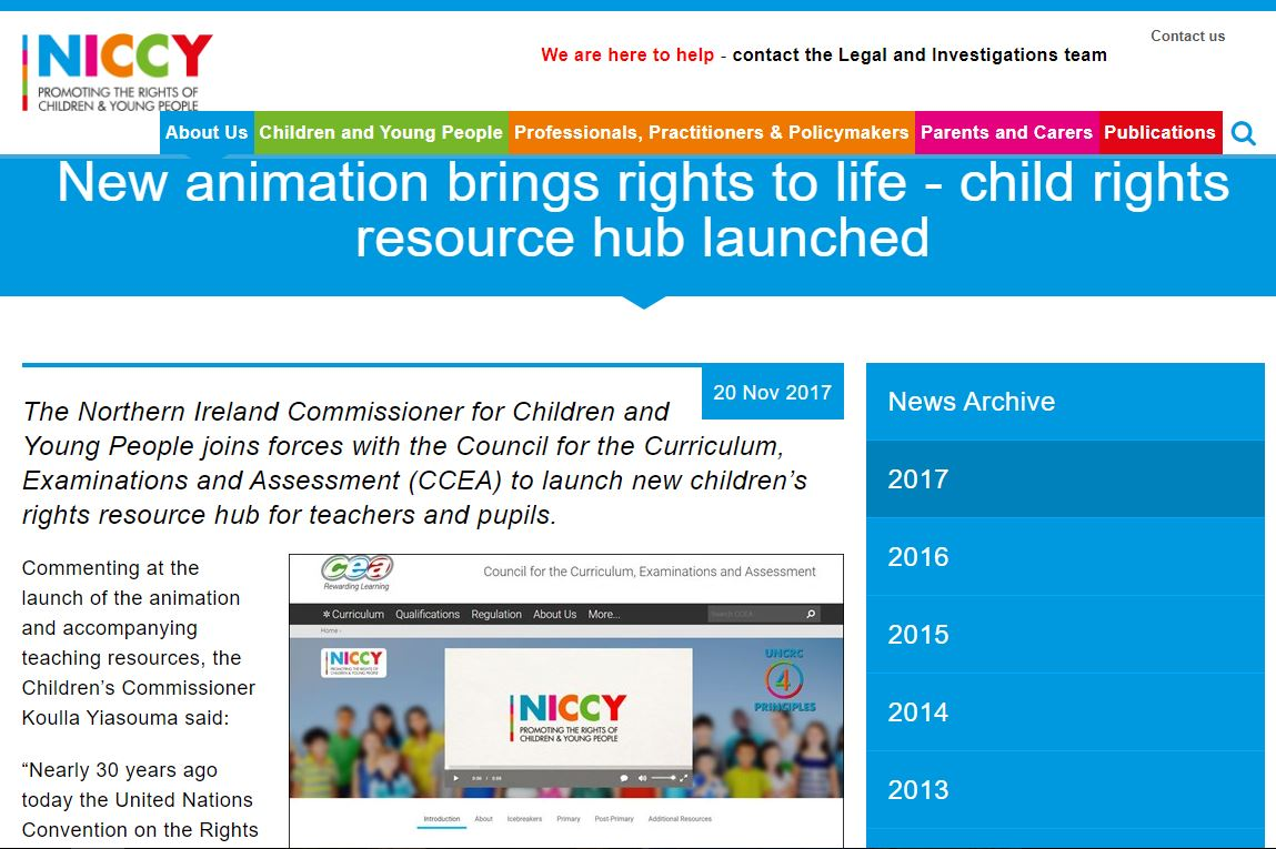 Image of New animation brings rights to life - child rights resource hub launched