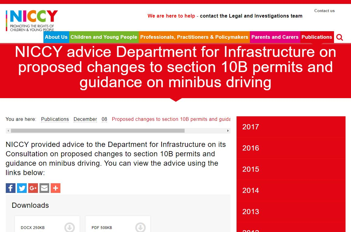 Image of Proposed changes to section 10B permits and guidance on minibus driving