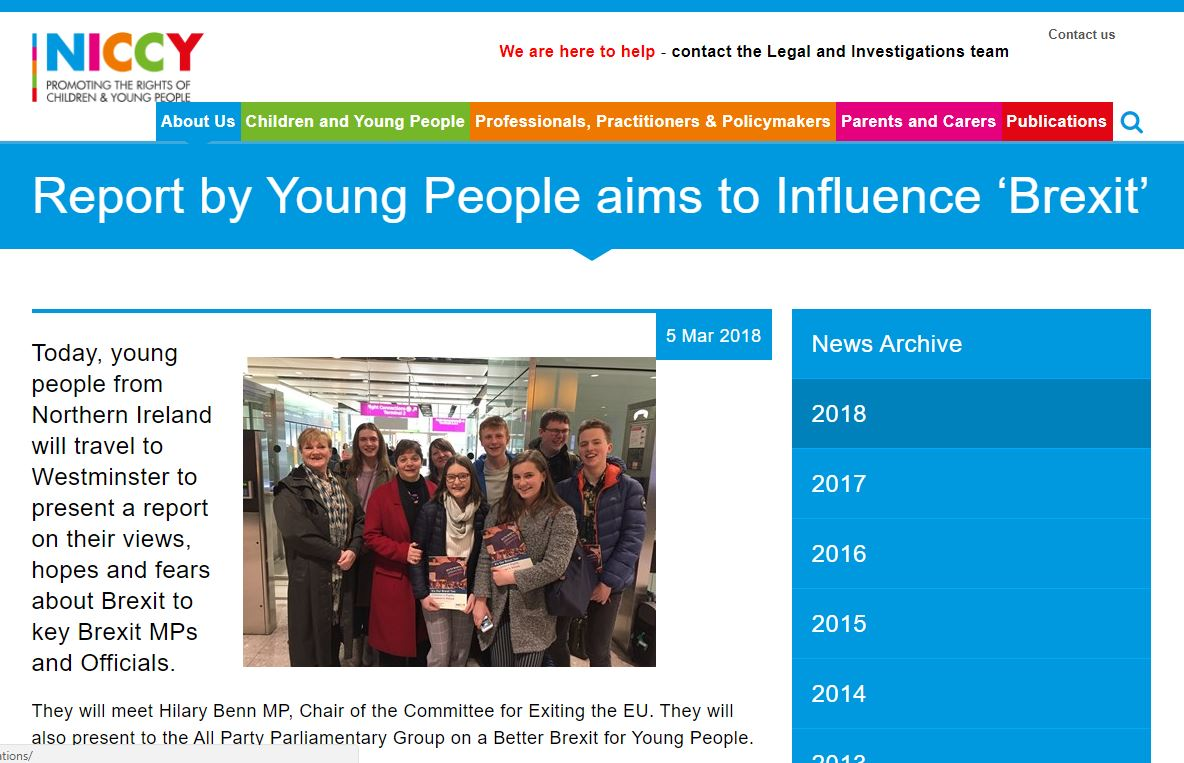 Image of Report by Young People aims to Influence 'Brexit'