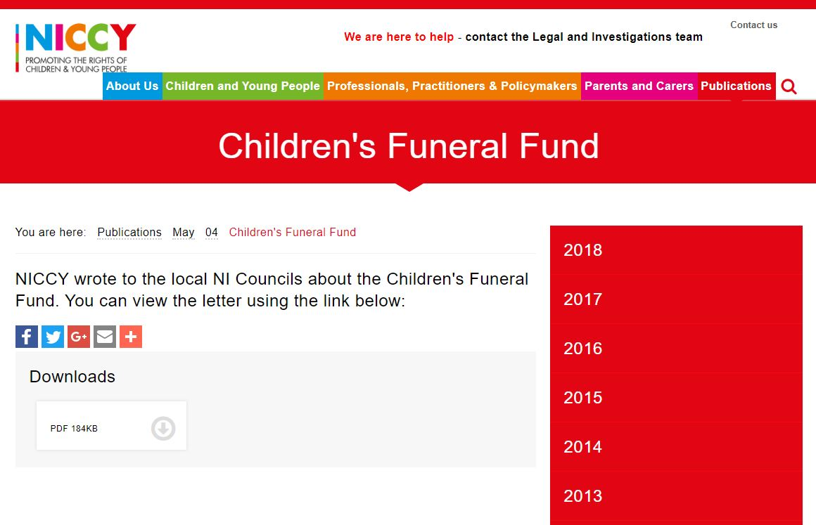 Image of Children's Funeral Fund