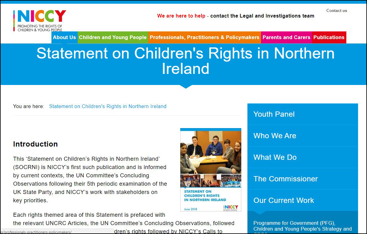 Image of Systemic Failures for Children in Northern Ireland