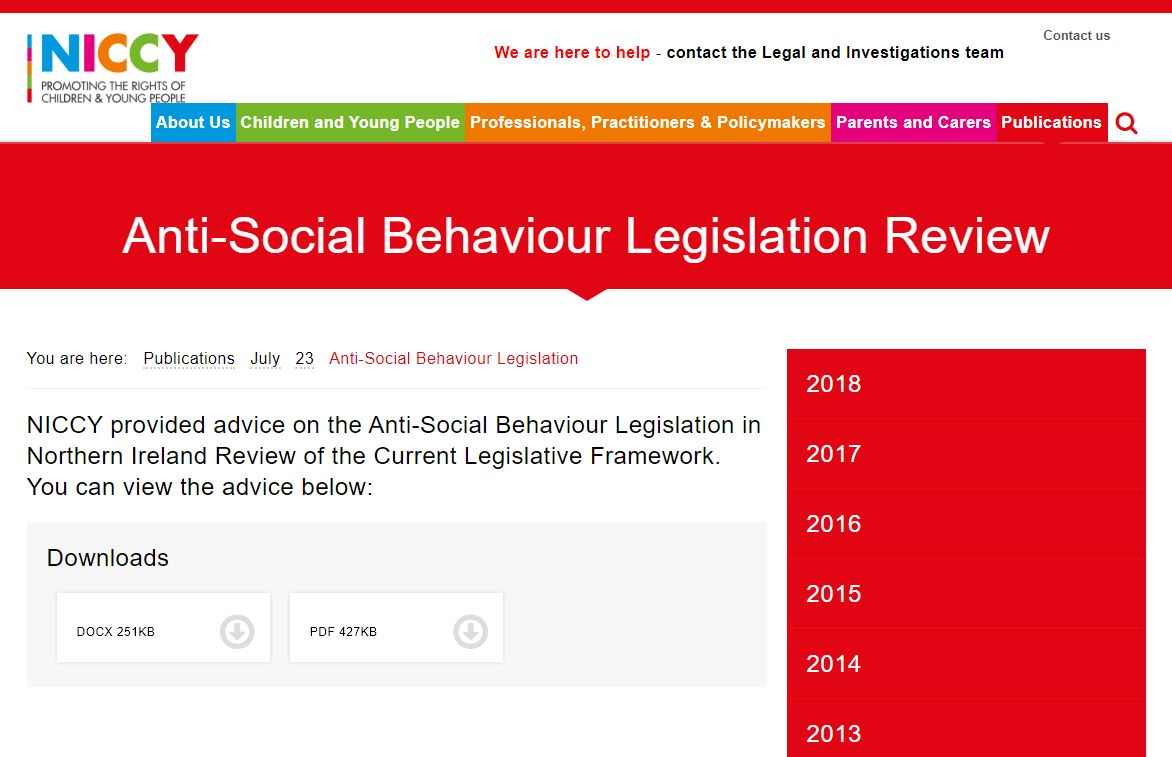 Image of Anti-Social Behaviour Legislation