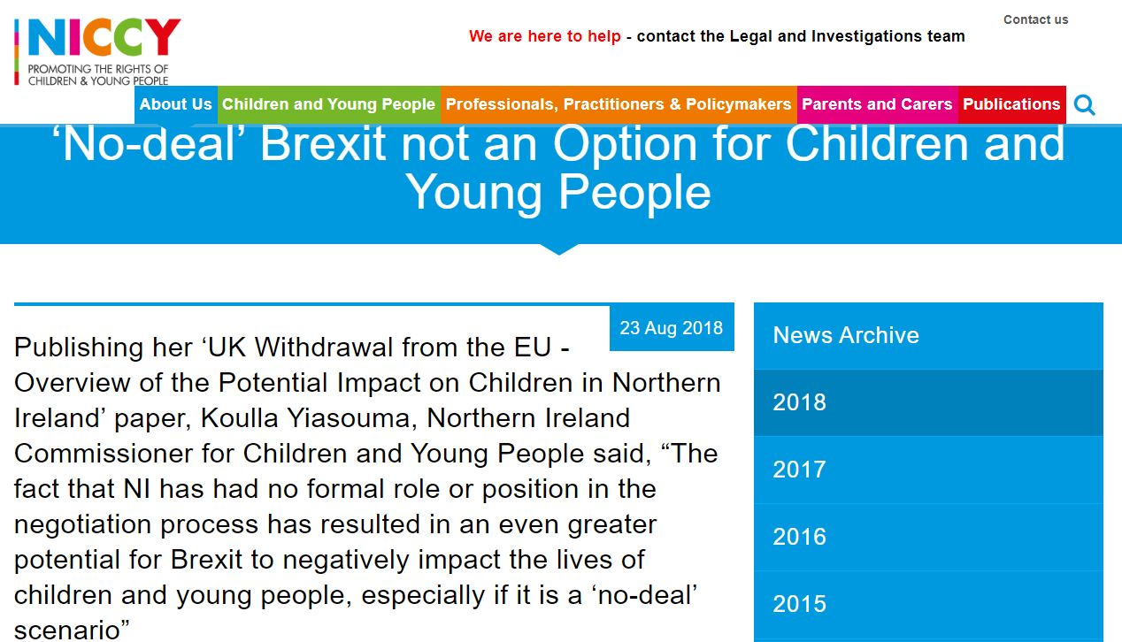 Image of 'No-deal' Brexit not an Option for Children and Young People