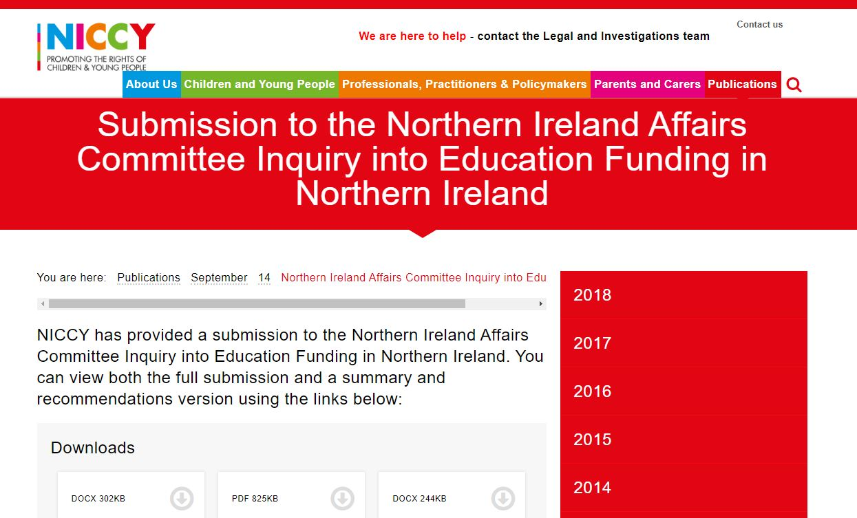Image of Northern Ireland Affairs Committee Inquiry into Education Funding