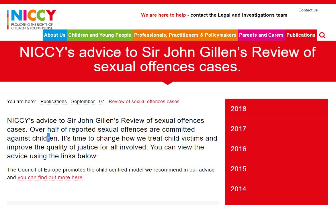 Image of Review of sexual offences cases