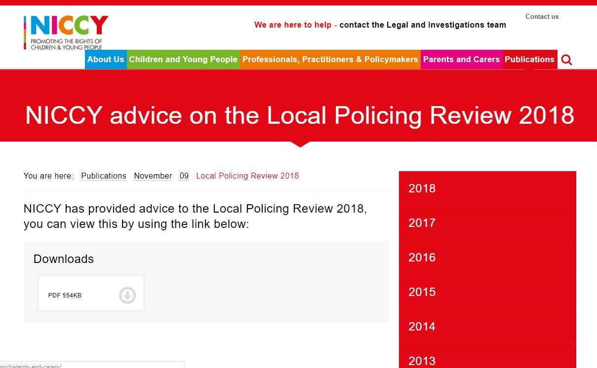 Image of Local Policing Review 2018