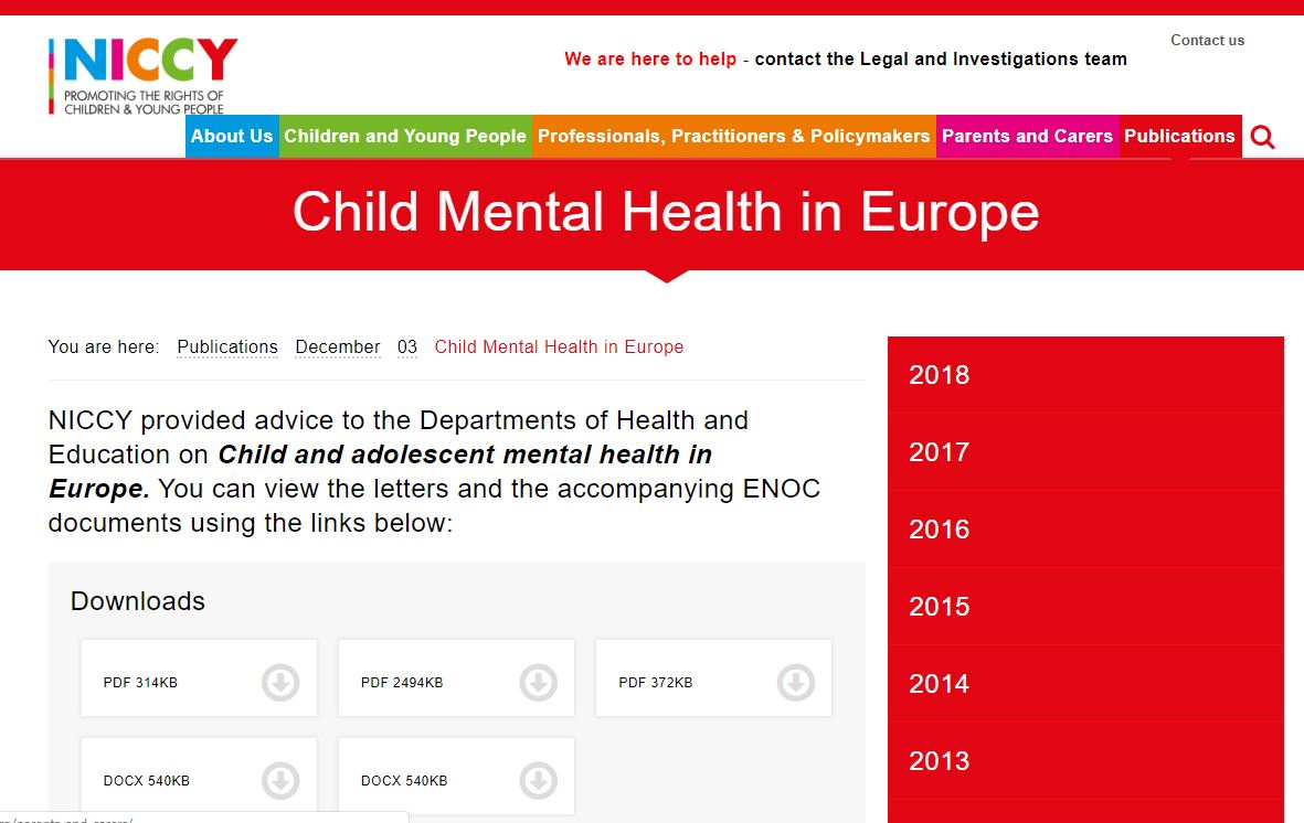 Image of Child Mental Health in Europe