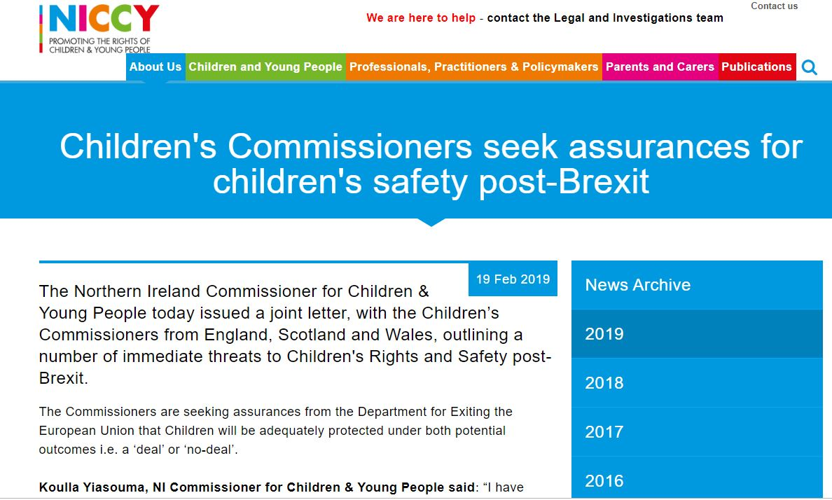 Image of Assurances sought for children's safety post-Brexit