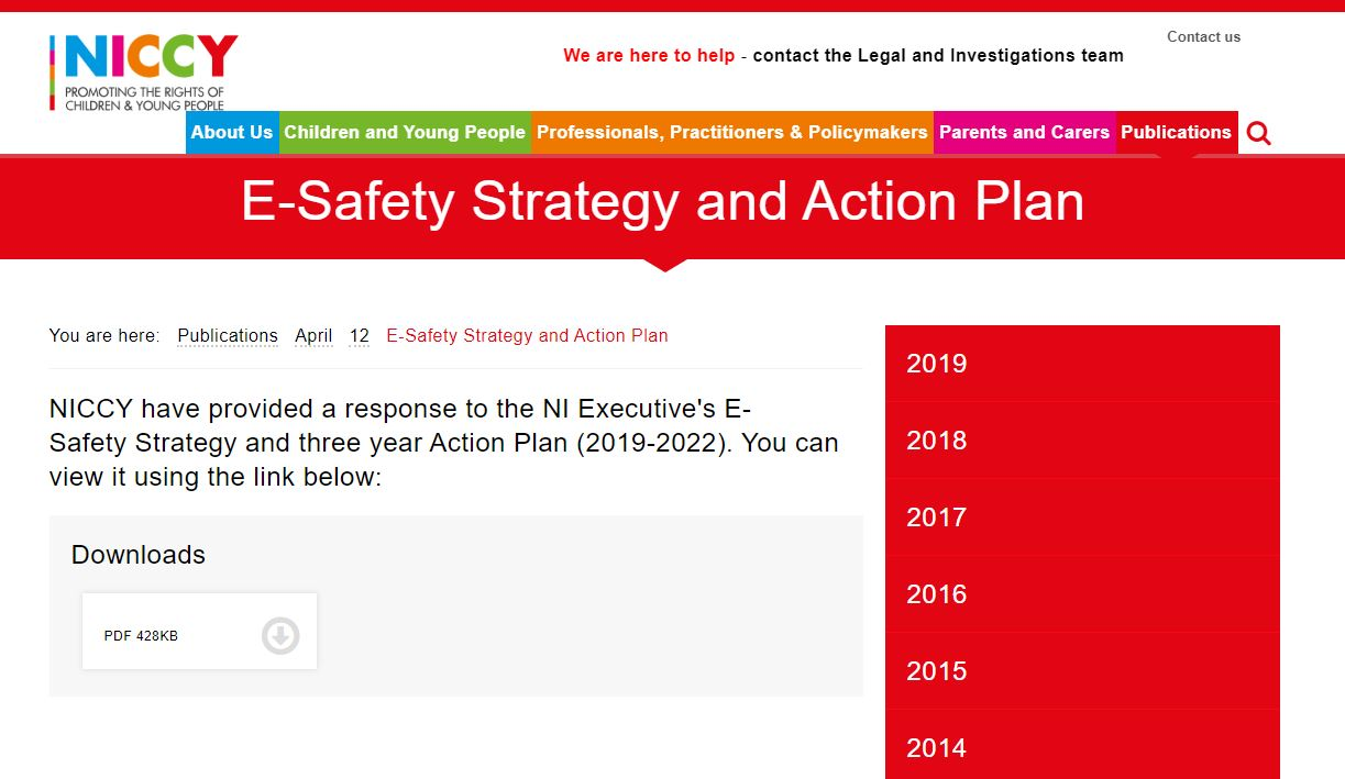 Image of E-Safety Strategy and Action Plan
