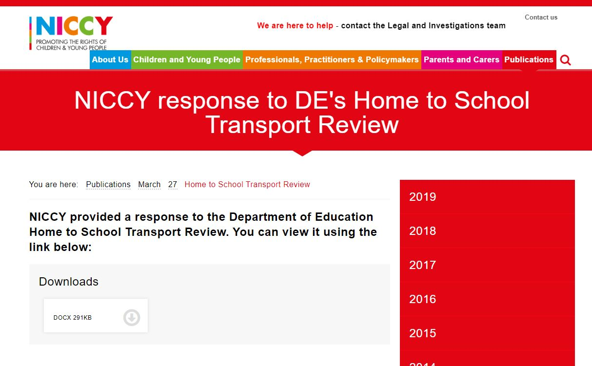 Image of Home to School Transport Review