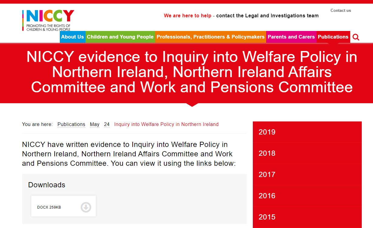 Image of Inquiry into Welfare Policy in Northern Ireland
