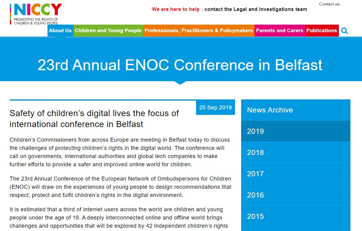 Image of 23rd Annual ENOC Conference on Belfast