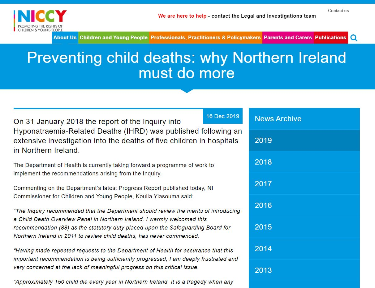 Image of Preventing child deaths: why Northern Ireland must do more