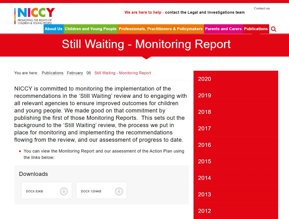 Image of Still Waiting - Monitoring Report