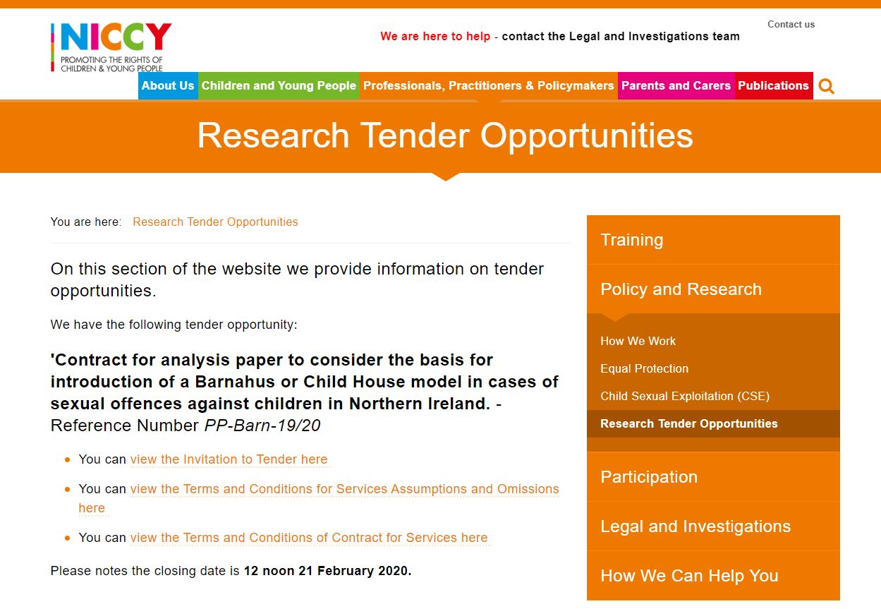 Photo for Research Tender Opportunities