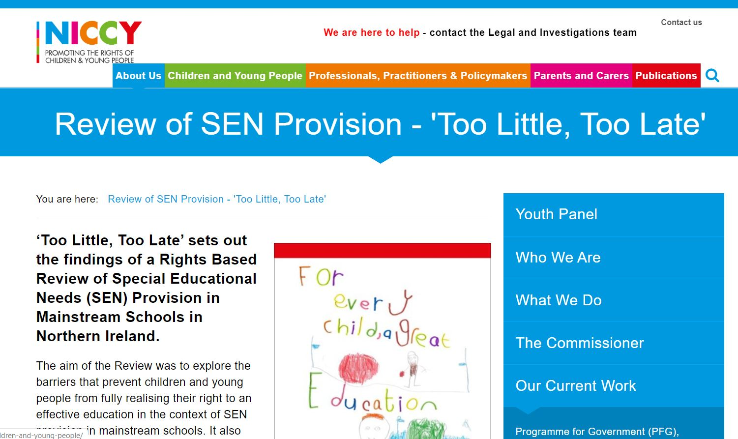 Photo for Review of SEN Provision - 'Too Little, Too Late'